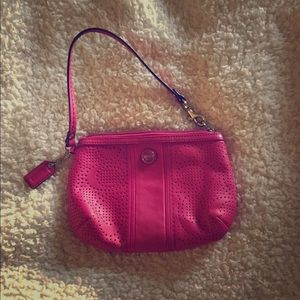 Coach pink wristlet in GUC